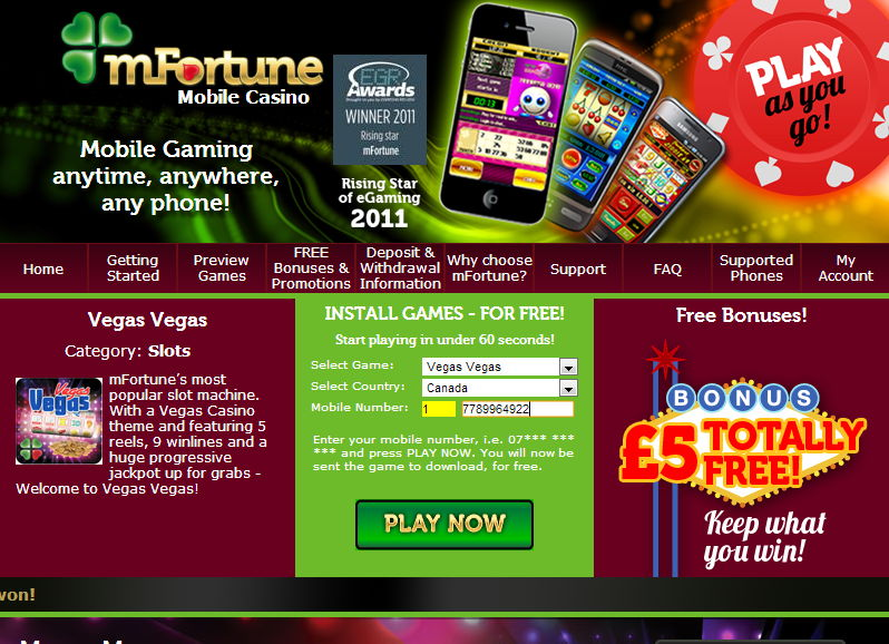 New mobile casino 5 free