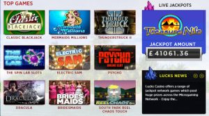 lucks casino games