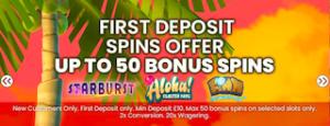 free spins deposit bonus